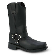 """Mens Black 12"""" Harness Boot Leather WP Work Boots BONANZA 120 Size 5-13 (D, M)"""