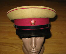 Soviet Russian 1943 WW2 Infantry Military Uniform Visor Cap Hat