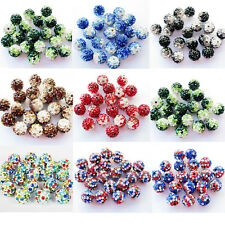 10Pcs Colorful Crystal Clay Disco Pave Ball Loose Spacer Bead Craft Jewelry 10MM