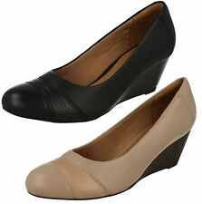 Ladies Clarks Wedge Heeled Shoes Brielle Tacha