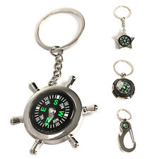 Rudder Compass Keychain Male Ring Key Ring Chain Alloy Key Chain Versatile Metal
