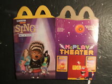 2016  McDONALDS HAPPY MEAL  TOYS,  SING   ( HAPPY MEAL BOX ) WOW!!