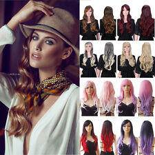 Fashion Synthetic Full Wig Long Straight Curly Wavy Daily Party Wigs US Ship #8