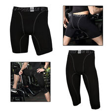 Boys Compression Skin Shorts Tight Leggings Base Layers Running Pant Gym Trainin
