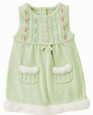 NWT GYmboree FAIRY WISHES 18-24 mo faux fur CABLE SWEATER DRESS JUMPER bow