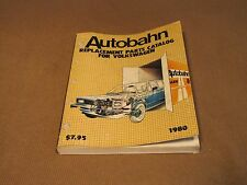 Autobahn Replacement Parts Catalog for Volkswagen 1980