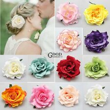 T SALE Women Bridal Rose Flower Hairpin Brooch Bridesmaid Wedding Hair Clip TXGT
