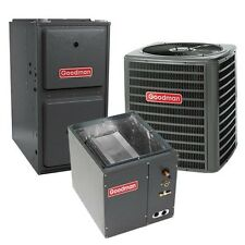 1.5 Ton 13 SEER 96% AFUE Gas Furnace Air Conditioner System, Vertical Cased Coil