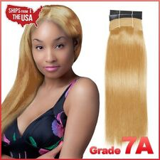 [Grade7A] Yaki Weaving / 100% Virgin Human Hair Straight (#27-Strawberry Blonde)