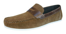 Red Tape Wardon Mens Leather Suede Slip On Moccasins / Loafers - Tan