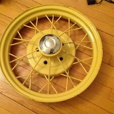 "Vintage 19"" 1930 1931 Model A wire wheel #3 with hub cap - nice"