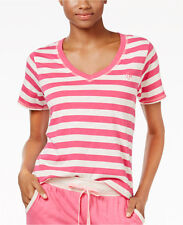NWT Tommy Hilfiger Womens Striped Sleep T-Shirt Top Sleepwear Pink/Blue size M/L