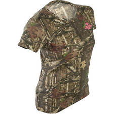 Mossy Oak Break-up Infinty Women's/Ladies Camo Short Sleeve Crew T-Shirts: S-2XL