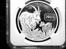 COLLECTIBLE 2015 TOKELAU $$5 YEAR OF THE GOAT PF69