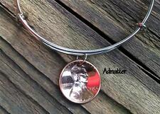 2015 LUCKY PENNY SILVER WIRE BANGLE CHARM BRACELET 2nd ANNIVERSARY W/ GIFT BOX
