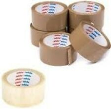 CELLOFIX  LOW NOISE Packing Parcel Tape BROWN/ CLEAR TAPE 48MM 66M CHEAPEST