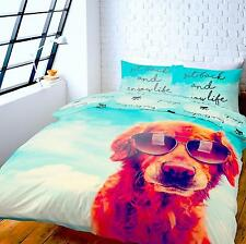 Catherine Lansfield New Dogs Life 3D Duvet Cover Bedding Set Single Double King