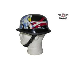 German Style Novelty Motorcycle Helmet with Flag and Eagle Sizes S-2XL