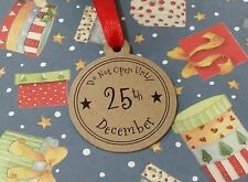 Do Not Open Until 25th December Christmas Round Labels Gift Tags 5/10/15/20