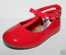 baby Gap NWT Girls Red Patent T Strap Mary Jane Flats Shoes Tiny Bow