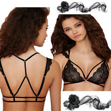 Sexy Hot Bra Strappy Bustier Top Club Vest Women's Cut Out Crop New Lace