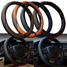 """New Car Leather Steering Wheel Covers Universal 15"""" Breathable Anti-slip Wrap"""