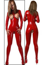 Latex Gummi Rubber Catsuit with Cut Crotch and Breast (optional colors)