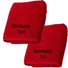 Valentines Gift Personalised Novelty Face Cloths for Husband Boyfriend Wife Girl