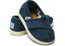 Tiny Toms Classics Navy Blue Infant Toddler Baby Boy Girl Canvas Shoes Size 2-11