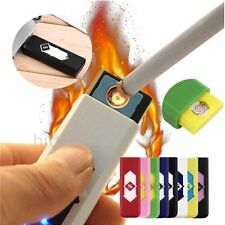 Cool No Gas USB Electronic Rechargeable Battery Flameless Cigarette Lighter SM