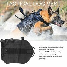 Tactical Outdoor Military Dog Clothes Load Bearing Training Vest Harness SM