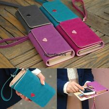 Leather Multifunction Envelope Case Purse Wallet For Samsung Galaxy Iphone OO55