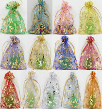 100pcs Rose Organza Gauze Jewelry Packing Pouch Wedding Favor Candies Gift Bags