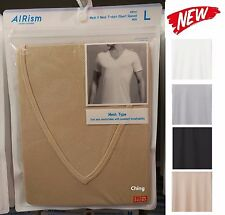 UNIQLO Men AIRism Mesh V Neck Short Sleeve T-Shirt Packaged Choose Colors NEW