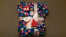 new womens joe boxer 2 pc. multi-color flower print flannel pajama set