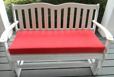 """43 1/2 """" X 18"""" Cushion for Swing Bench Glider -- Choose Solid Colors"""
