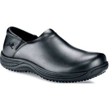 Mozo FORZA 3803 Mens Black Leather Slip On Slip Resistant Work Shoes