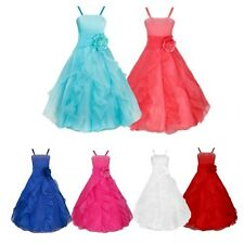 Flower Girls Princess Formal Wedding Bridesmaid Birthday Party Prom Gwon Dress