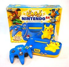 With box N64 / Nintendo 64 Pikachu Pokemon Blue & Yellow 15741526 excellent