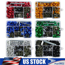 Universal Sportbike Windscreen Fairing Bolts Kit Fastener Clips Screws Packs