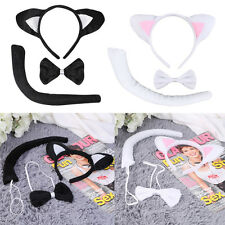 Animal Tail & Ear Headband & Bow Tie 3 pcs Tail Party Little Cat SM