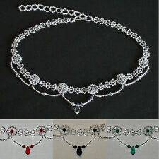 sch2 Bridal/Prom Choker featuring Swarovski Crystals (silver/various)
