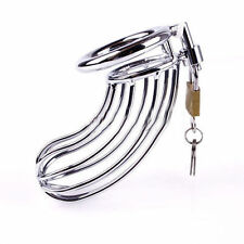 New Stainless Steel Male Chastity Device Lock Ring Cage Lockable Bondage