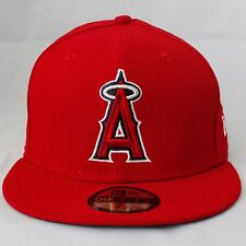 ANGELS New Era MLB Baseball Hat - Men's FITTED Size (All Red)
