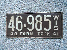 1940-41  Wisconsin License Plate Truck  original paint 1940 Ford 1941 Chevrolet?
