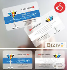 Plastic business cards PVC Translucent Frost Full Colour Printing Rounded Corner
