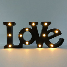 Marquee Letters LED Light Word Metal Sign Night Lamp Light up Letter Decor