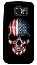 AMERICAN FLAG SKULL CASE COVER FOR SAMSUNG NOTE 45 GALAXY S3 S4 S5 S6 S7 EDGE S8