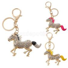 Ladies Girls Horses Pony Keyring Keychain Purse Bag Charm Key Chain Gift Animal