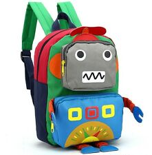 Baby Kid Child Robot School Kindergarten Backpack Shoulder Bag Rucksack Knapsack